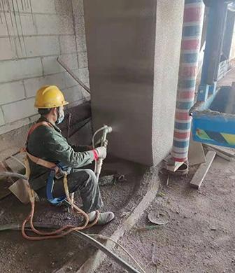 云旅项目钢结构防火涂料施工