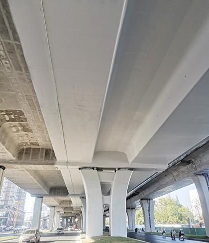 南昌洪都高架清水混凝土保护剂涂装